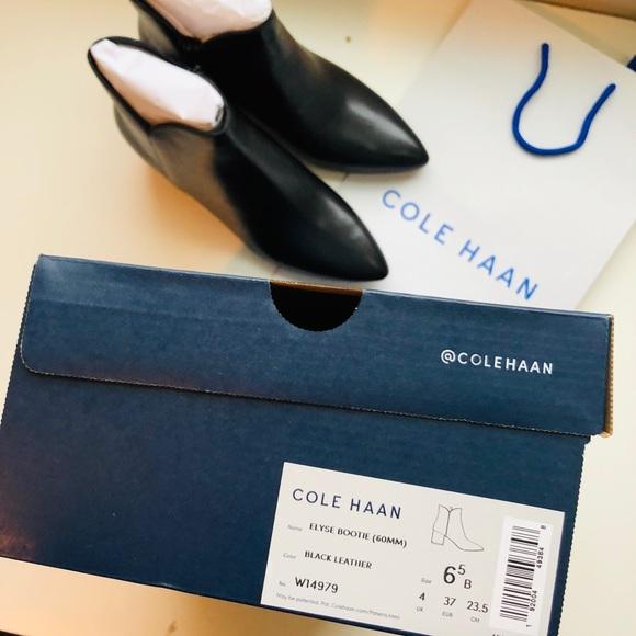 Cole Haan Elyse Leather Block Heel